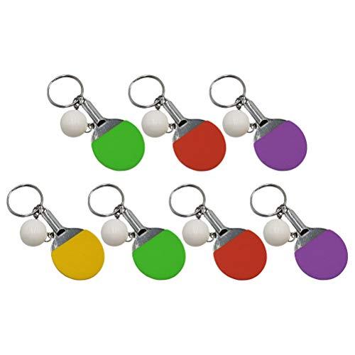 SOIMISS 7 unidades chaveiro porta- chaves exclusivos raquete de tênis de mesa chaveiro chaveiro bolsa pingentes