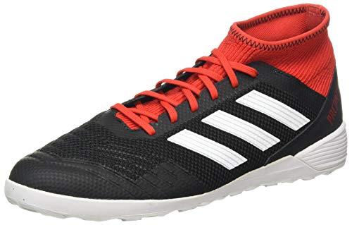 adidas Herren Predator Tango 18.3 Indoor Futsalschuhe, Schwarz Schwarz Weiß Rot Schwarz Weiß Rot, 45 1/3 EU
