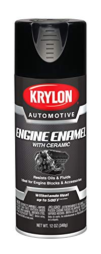 Krylon Automotive Engine Enamel with Ceramic, Gloss, Black, 12 oz. (KA8622007)