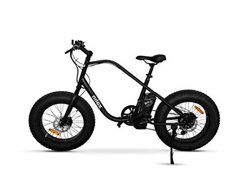 """Nilox E Bike X3, Fat Bike Elettrica A Pedalata Assistita, 20"""", 36V/250W – Adulto, Nero, Taglia Unica"""