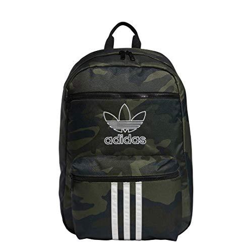 adidas Originals Mochila unisex 977695 National 3-Stripes, Unisex, 977695, Adi Camo Verde, Talla única