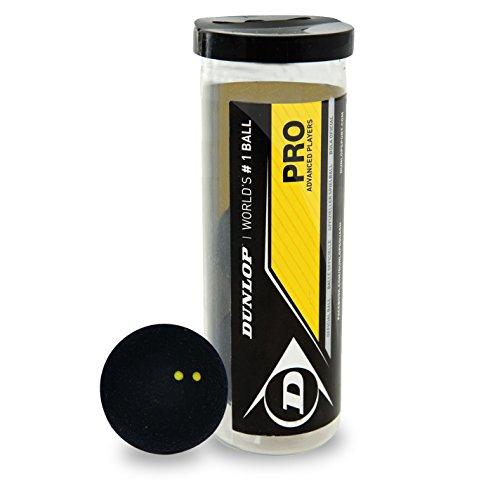 Dunlop Pro Squashball doppel gelb 3 Balle in der Tube