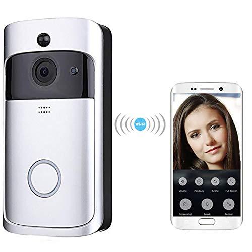 Preisvergleich Produktbild ZUKN Visuelle Klingel der intelligenten Türklingel,  visuelle Türklingel der Smart Home Wireless-Kamera,  Intercom-Sicherheitsautomatisierungsmodul für Mobiltelefon