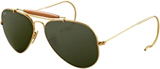 Ray-Ban Outdoorsman 3030 Aviator Sunglasses with Wire Wrap Ears