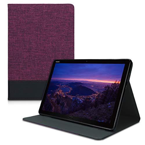 kwmobile Hülle kompatibel mit Huawei MediaPad M5 Lite 10 - Slim Tablet Cover Hülle Schutzhülle mit Ständer Violett Schwarz