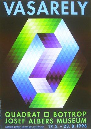 Victor Vasarely Keple Gestalt 1968 Poster Originalplakat Bild Druck 84,1x59,4cm
