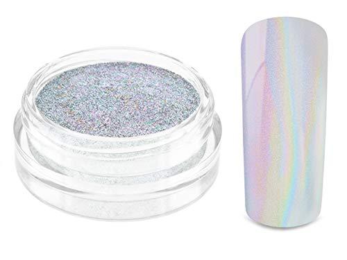 Nailart UNICORN HOLOGRAMM Pigment Puder - Nageldesign Holographic Effekt Powder - Nail Glitzer Glitter Pulver RAINBOW Metallic - Nail Dekoration Nagelkunst Naildesign
