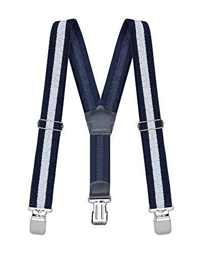 Buyless Fashion Tirantes elásticos y ajustables para hombres 3 cm