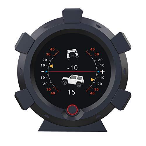 AUTOOL X95 GPS Neigungsmesser Digitaler Auto, LCD Elektronisch Winkelmesser HUD Anzeige Clinometer für DC 5-28V Kfz Offroad
