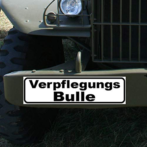 Magnetschild Verpflegungs Bulle Nachschub Koch Küche Spieß Bundeswehr #A887