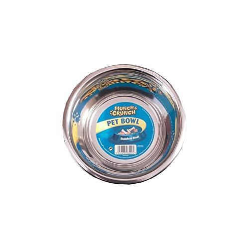 Munch & Crunch Grande 21 cm en Acier Inoxydable pour Animal Domestique Bol