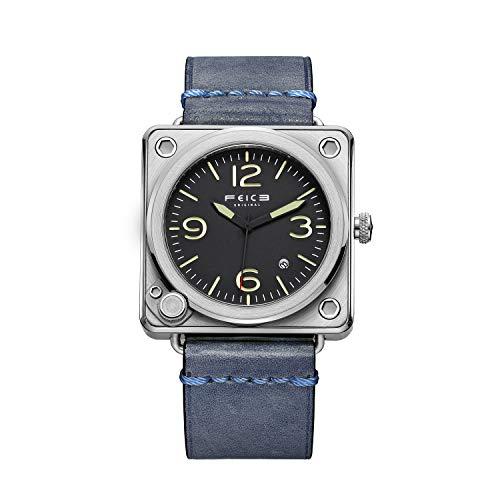 FEICE Reloj Automático Cuadrado para Hombres Reloj Mecánico con Cristal Zafiro Reloj de Pulsera Mecánico de Moda Resistente al Agua 10 ATM Ø42 mm FM508