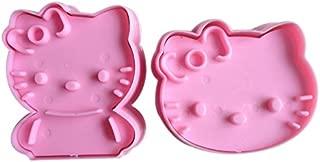 2pcs Hello Kitty Shape Mold Sugar Arts Set Fondant Cake Tools/cookie Cutters