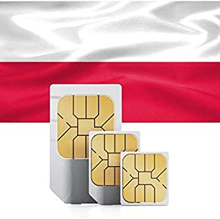 Prepaid Data SIM Card for Eastern Europe & Baltic Countries (Poland, Hungary, Czech Republic, Latvia, Lithuania, Estonia) 12GB Valid for 30 Days