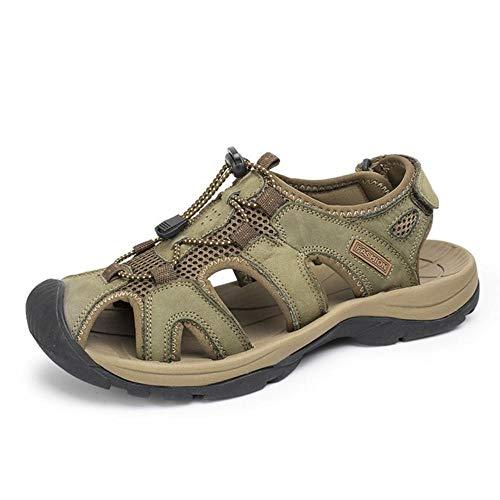 Hochwertige männer Sandalen Mode Strand Leder Sandalen atmungsaktiv männlichen Sandalen Sommer männer Strand Schuhe-7 UK