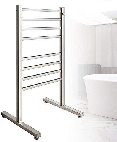 Toallero Eléctrico Bajo Consumo Calentador de toalla independiente de 8 barras, toallero climatizado eléctrico y soporte de secado Cuarto de baño 96W Calentador de toalla eléctrica, toalla caliente