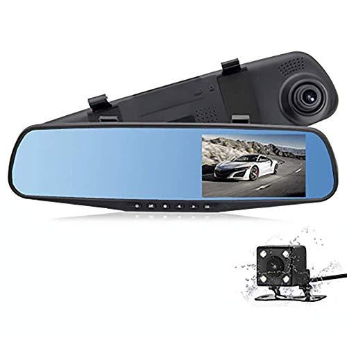 WGFGXQ Dashcams para Coches Delanteros Y Traseros 4.3'HD Screen Dash Cameras 1080P Loop Recording G-Sensor Motion Detection Imagen Inversa