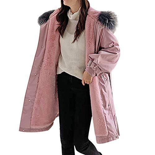 Rmeioel Plus Size Women Winter Warm Jacket Duck Down Jackets Outwear Women Slim Long Sleeve Solid Coats Overcoat Pink