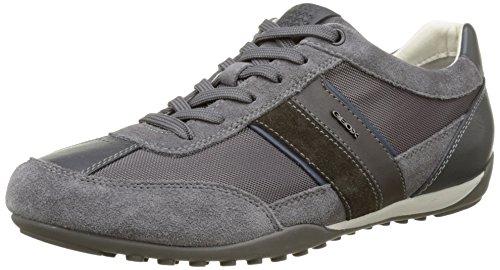 Geox U Wells C, Zapatillas para Hombre, Gris (Anthracite C9004), 40 EU