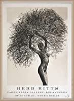 ポスター ハーブ リッツ Neith with Tumbleweed 1986年 限定12/88 サイン入り 額装品 ウッドベーシックフレーム(オフホワイト)