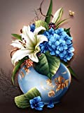 5D DIY diamante pintura flor imagen diamante de imitación bordado mariposa Rosa punto de cruz mosaico decoración del hogar A4 30x40cm