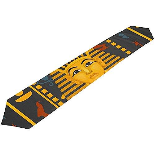 sunnee-shop lange tafelloper Hieroglyphe Egypte achtergrond polyester tafelkleed loper