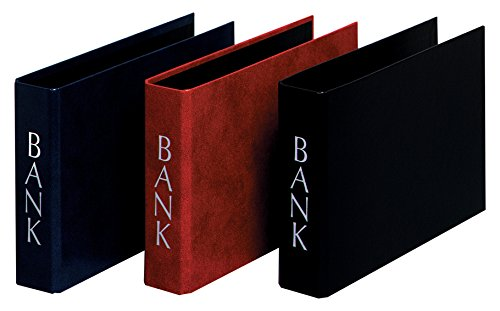 Herlitz Bankordner DIN Lang mit silberprägung, 2 Bügel, 3 Stück, eingeschweißt, weinrot/schwarz/blau