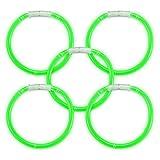 The Glow Company Bastoncini Luminosi Fluorescenti bracciali 100qualità Premium Glowsticks–Verde