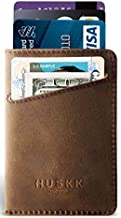 HUSKK Men Wallet - RFID Minimalist Slim Front Pocket Card Travel Holder Clip