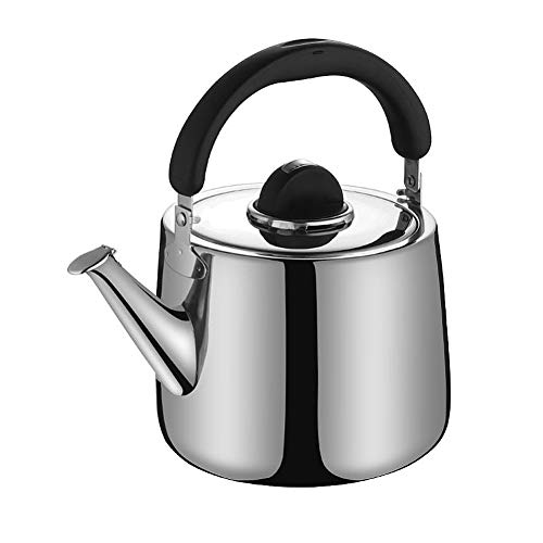 Stainless Steel Kettle, Electric Tea Kettle Whistling Teapot for Induction Cookers (2L)