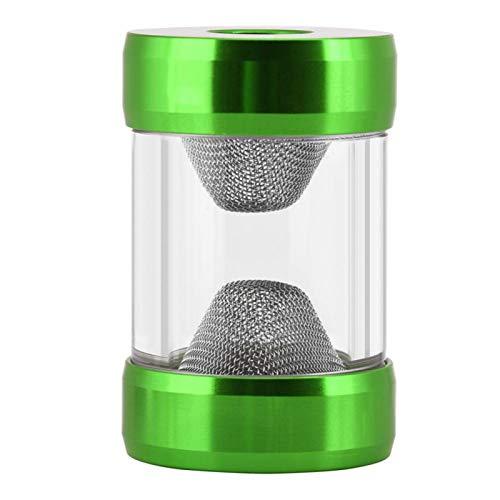 EVTSCAN Filtro de medidor de Flujo de enfriamiento de Agua de Rosca Interior G1/4 `` Filtro de Filtro en Forma de Embudo de Pantalla Fina de Hilo Interior G1/4 Sistema de enfriamiento(Verde)
