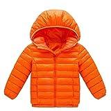 Doudoune Bébé Fille Garçon Enfants Blouson Manteau à Capuchon Automne Hiver Chaud Veste de Coton BaZhaHei(5 Ans,Orange)