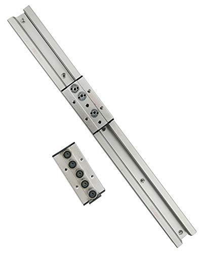 TEN-HIGH Guide linéaire double axe 1650mm rail linéaire SGR25 avec 2 blocs de chariot SGB25-5UU pour imprimante 3D et machine CNC