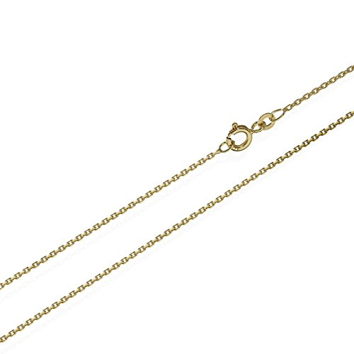 NKlaus 42cm Ankerkette Collier 333er gelb Gold Kette Diamantiert 1,3mm 2,2g 6630