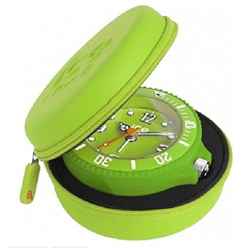 Ice-Clock Travel Alarm Clock - Green