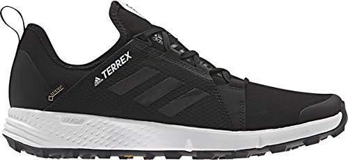 adidas outdoor Terrex Speed GTX Mens Trail Running Shoe Black/Black/White, Size 9