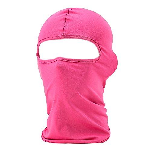 UTOVME Pasamontañas Capucha Transpirable para Ciclismo Mascarilla Balaclava a prueba de Polvo UV Capuchón Licra - Rojo de rosa