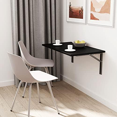 ts-ideen - Mesa plegable (70 x 40 cm), color negro