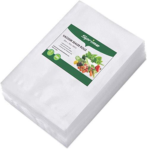 Vakuumbeutel Lebensmittel 20 * 30 cm 100 Beutel Wiederverwendbare und reißfeste Vakuumgarbeuteln Ideal für die Aufbewahrung von Lebensmitteln und das Vakuumkochen für alle Vakuumiergeräte (M)