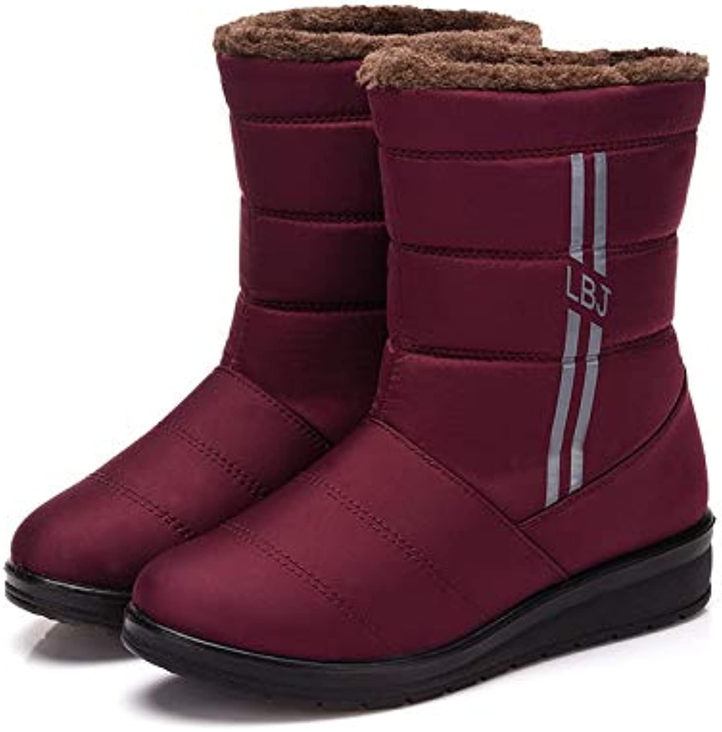 DDL- Snow Boots Women's Snow Boots Winter Female Casual Warm shoes Fur Waterproof Upper Fashion Non-Slip Sole Woman Snow Boots