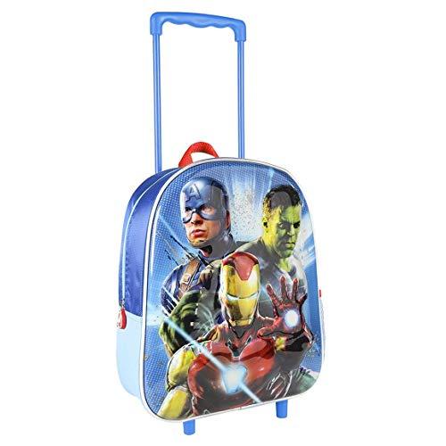 Cerdá, Mochila Carro Infantil 3D Metalizada Avengers Unisex niños, Multicolor, 26.0 X 31.0 X 10.0 CM