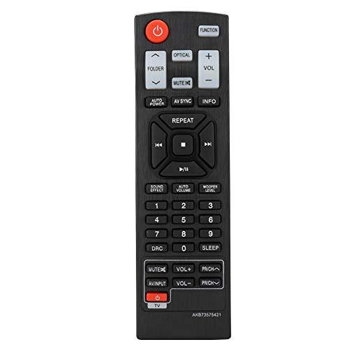 Garsent Soundbar afstandsbediening, universeel alternatief audio afstandsbediening voor LG Soundbar AKB73575421 Sound BAR NB3530A NB4530A