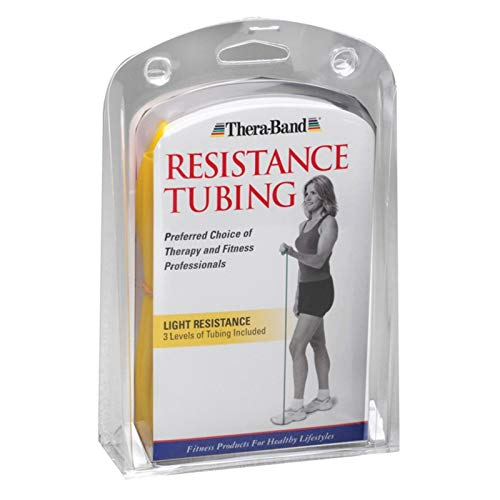 Thera-Band Light Exercise Tubing (Yellow/Red/Green) by TheraBand