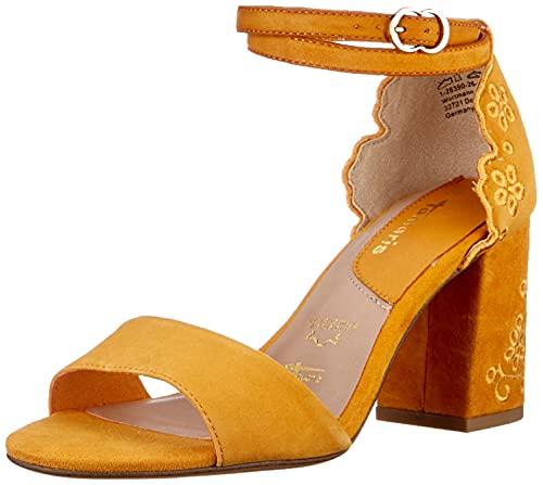 Tamaris Femmes Sandale à Talon 1-1-28390-26 609 Jaune Taille: 36 EU