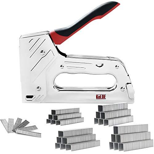 KeLDE T50 Staple Gun Kit - Heavy Duty Manual Stapler/Nail Gun with 1500pcs Staples and Brad Nails for Upholstery, DIY, Furniture, Material Repair, Carpentry, Decoration
