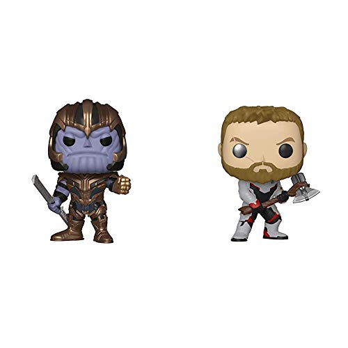 Funko Pop! Bobble: Avengers Endgame: Thanos + Pop! Bobble: Avengers Endgame: Thor