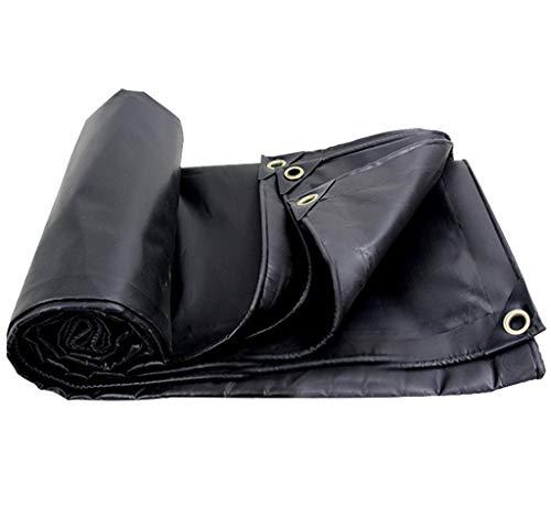 TRNCEE zonnezeil, waterdicht, zwart, van polyester, zware zijde, met PVC-coating voor buiten, veelzijdig inzetbaar 4x4m