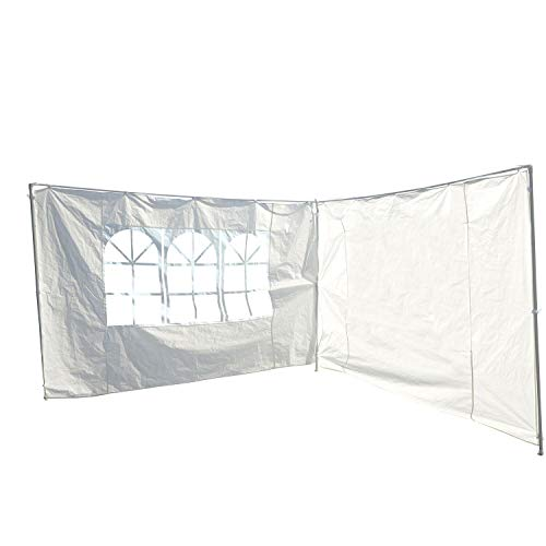 SavingPlus 3M Canopy Gazebo Marquee Party Tent Replacement Exchangeable Side Walls Panels (White)