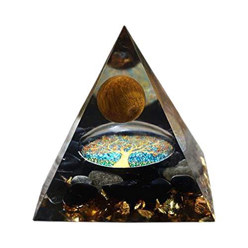 SunniMix Cristales Naturales-pirámide-Cuarzo Claro Punto de energía EMF protección Reiki generador de...