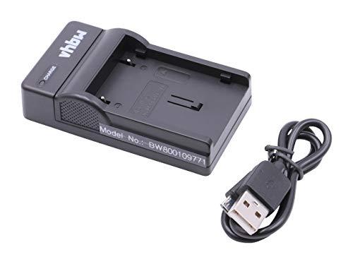 vhbw Cargador batería USB Compatible con JVC BN-V408, BN-V408U, BN-V416, BN-V416U, BN-V428 baterías cámaras, videocámaras, DSLR -Soporte Carga